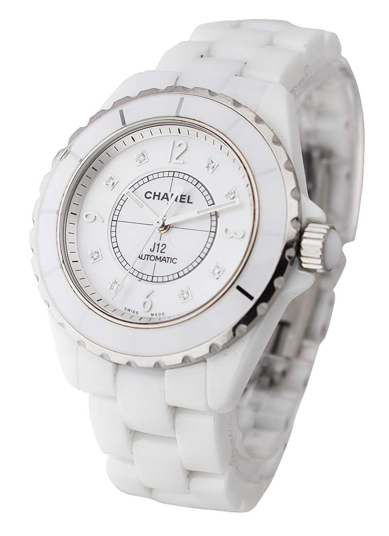 Chanel J12 38mm Automatic in White Ceramic H2423