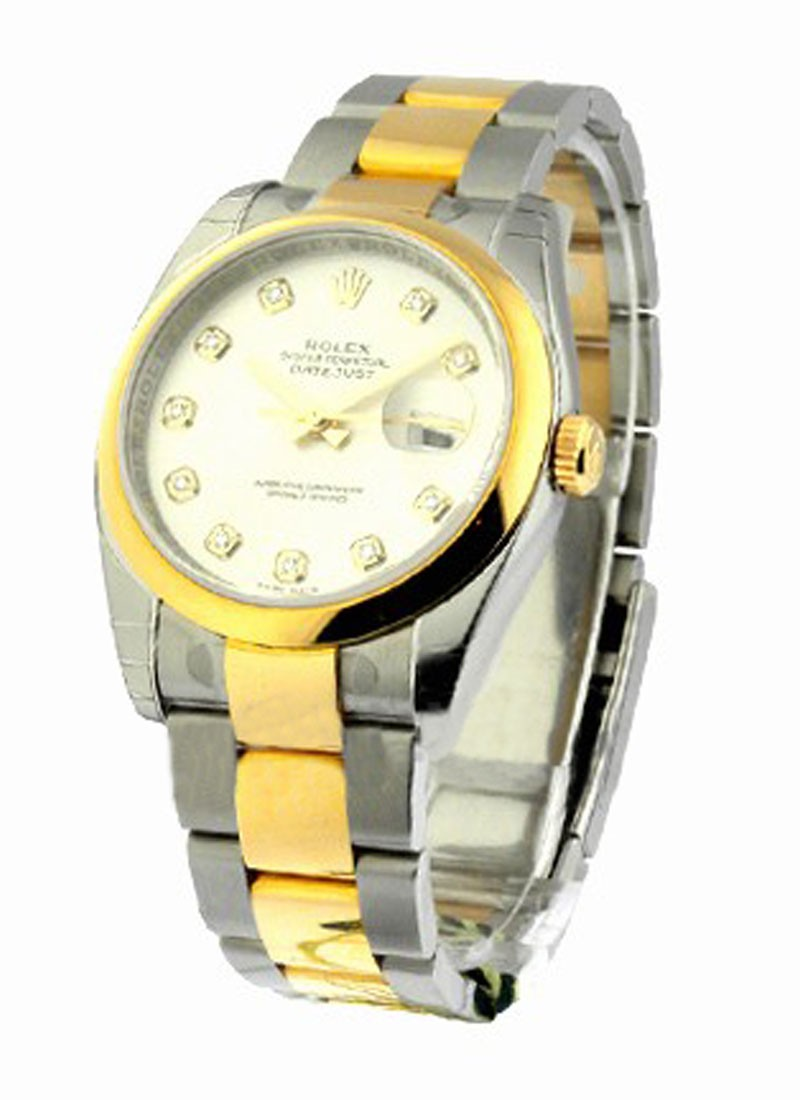 Rolex Unworn Datejust 36mm in Steel with Yellow Gold Smooth Bezel