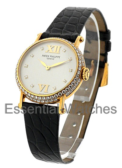 Patek Philippe Calatrava 26mm Ladies Size with Diamond Bezel