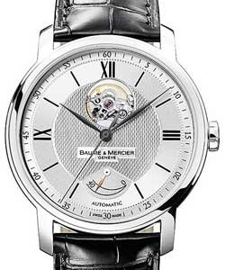 4c15b747f5d Classima Executives Power Reserve in Steel on Black Leather Strap with  Silver Dial