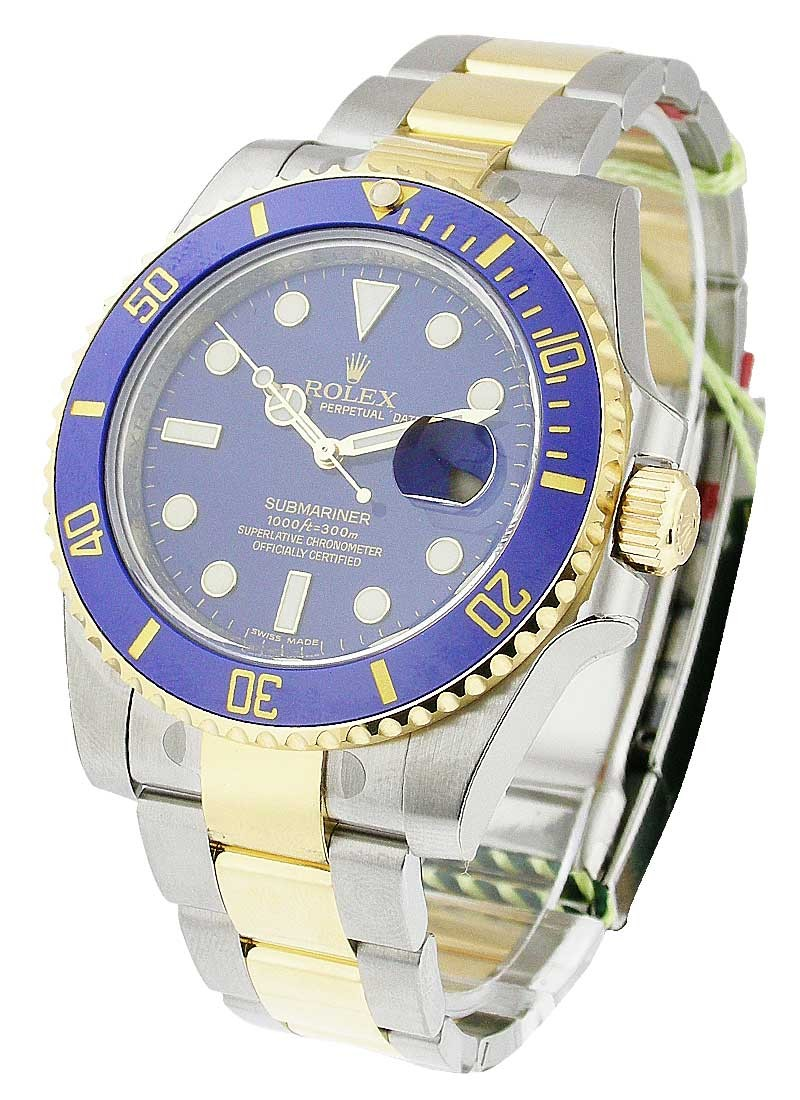 Rolex Unworn 2-Tone Submariner in Steel with Blue Ceramic Bezel