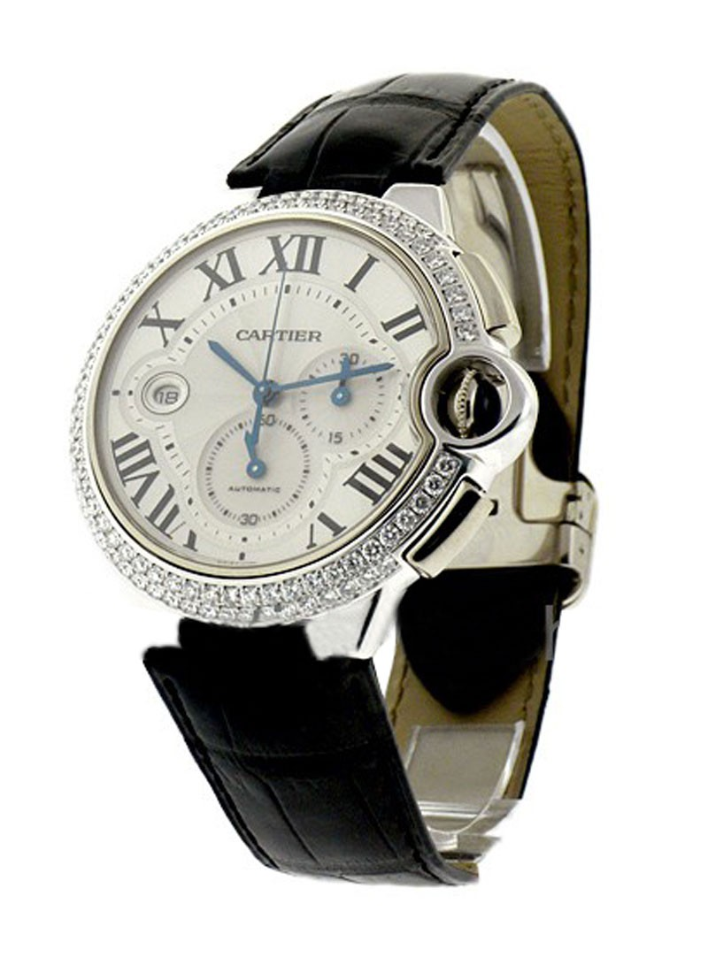 Cartier Ballon Bleu Chronograph with Diamond Bezel