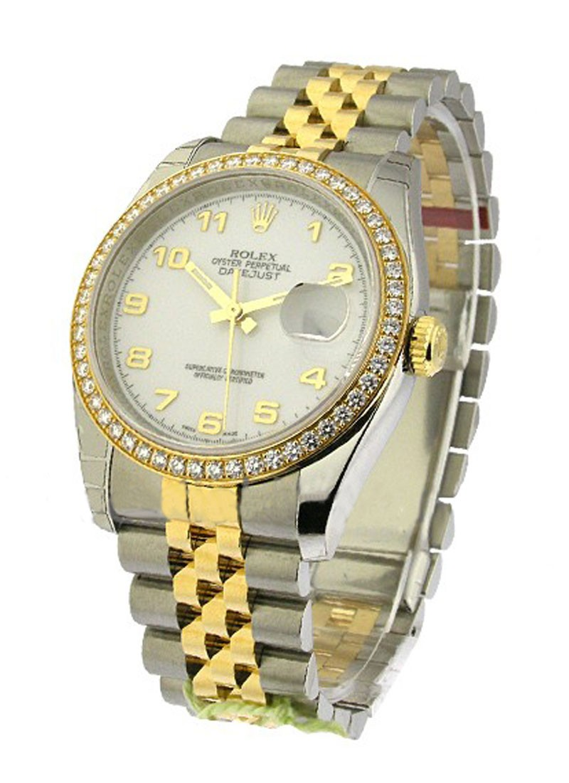 Rolex Unworn Datejust Ladies 26mm in Steel with Yellow Gold Diamond Bezel
