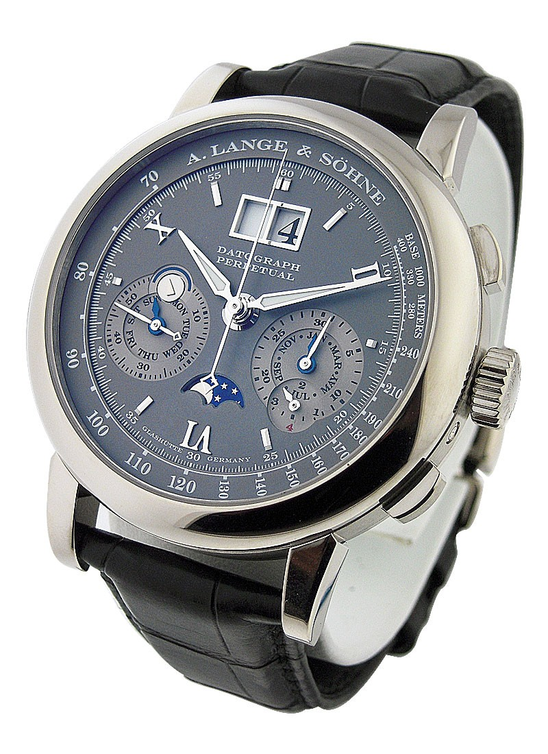 A. Lange & Sohne Datograph Perpetual Calendar Chronograph in White Gold