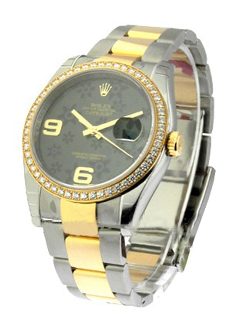 Rolex Unworn Men's 2 Tone Datejust with Diamond Bezel