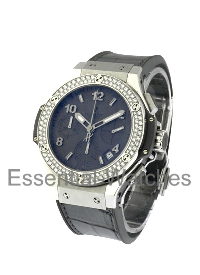 Hublot Big Bang Earl Gray 41mm in Steel with Diamond Bezel