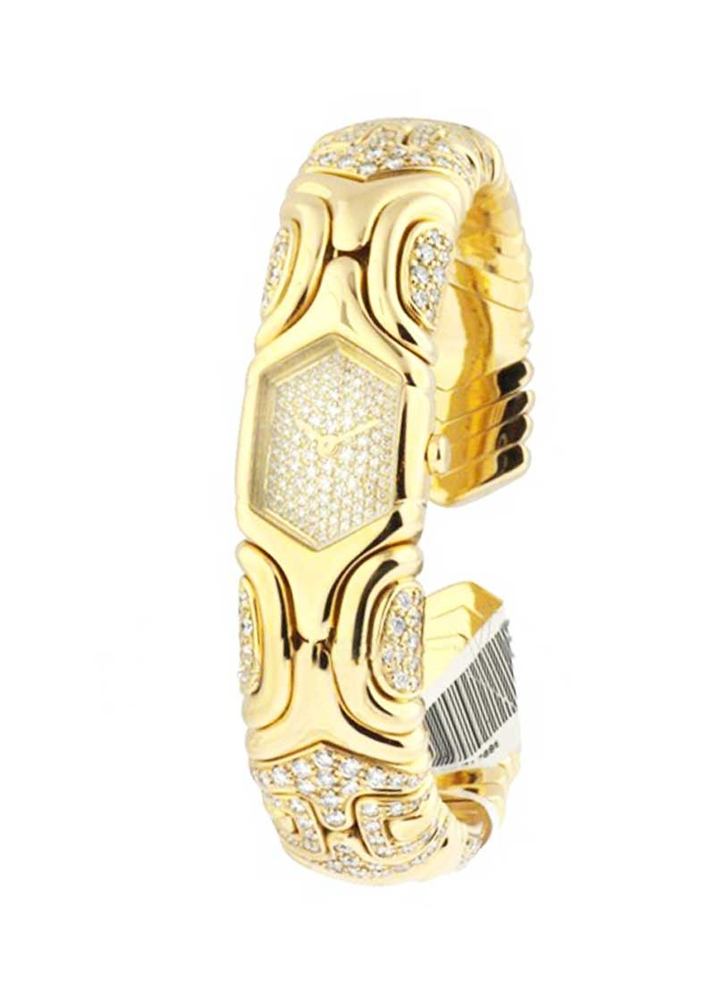 Bvlgari Alveare Bangle Watch in Yellow Gold