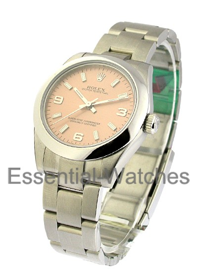 Rolex Unworn Mid Size Oyster Perpetual in Steel with Smooth Bezel