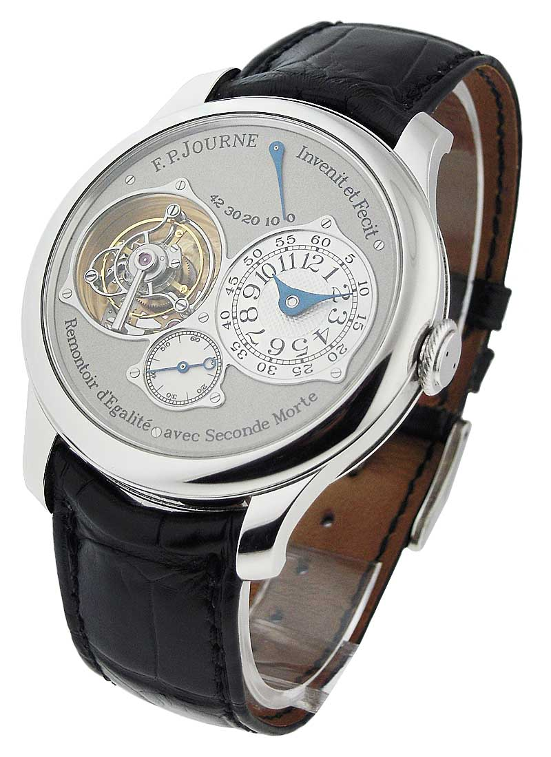 FP Journe Souverain Dead Seconds Tourbillon in Platinum