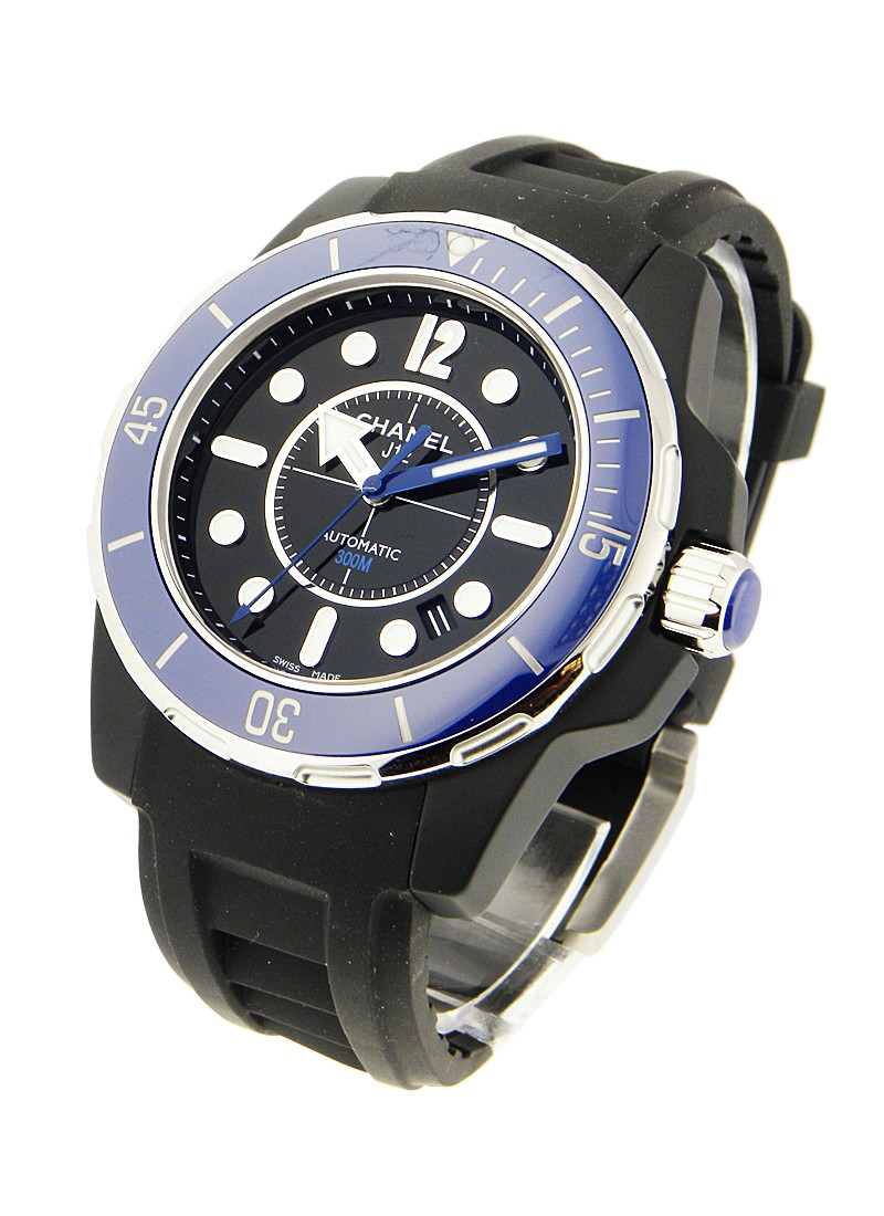 Chanel Black J12 - Marine H2559 42mm in Ceramic with Blue Bezel