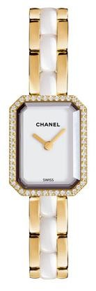 Chanel Premiere Lady's 19.5mm in Yellow Gold with Diamonds Set Bezel