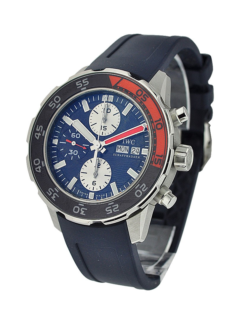 IWC Aquatimer Chronograph in Steel with Orange and Blue Bezel
