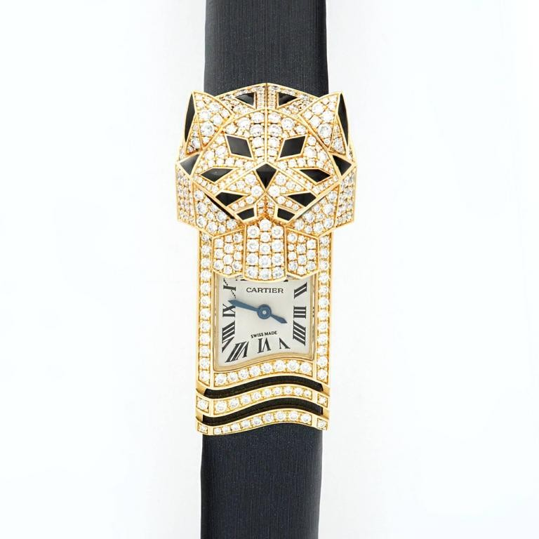 Cartier Panthere Secrete De Cartier in Yellow Gold Diamond Bezel