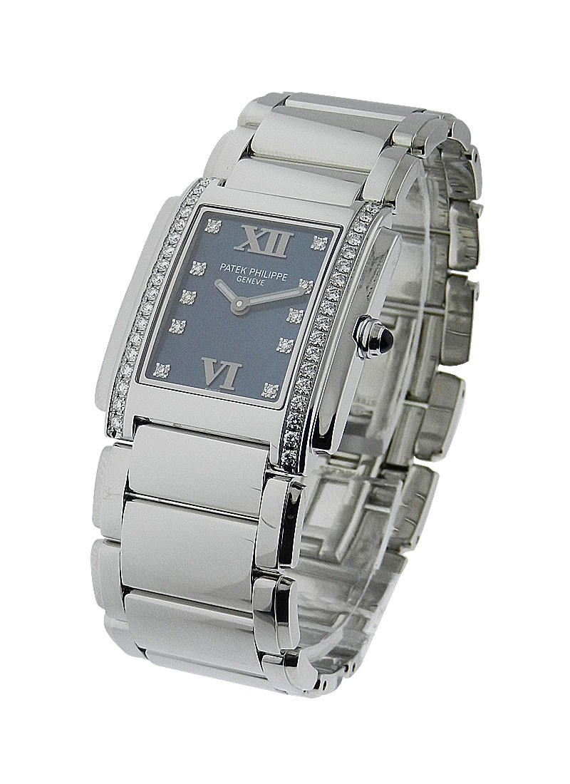 Patek Philippe Twenty-4 Quartz in Steel with Diamond Bezel