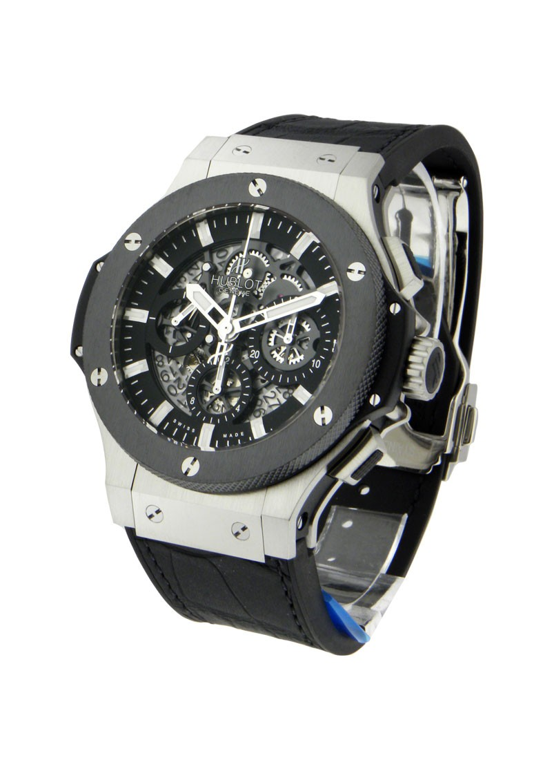 Hublot Aero Bang in Steel with Ceramic Bezel