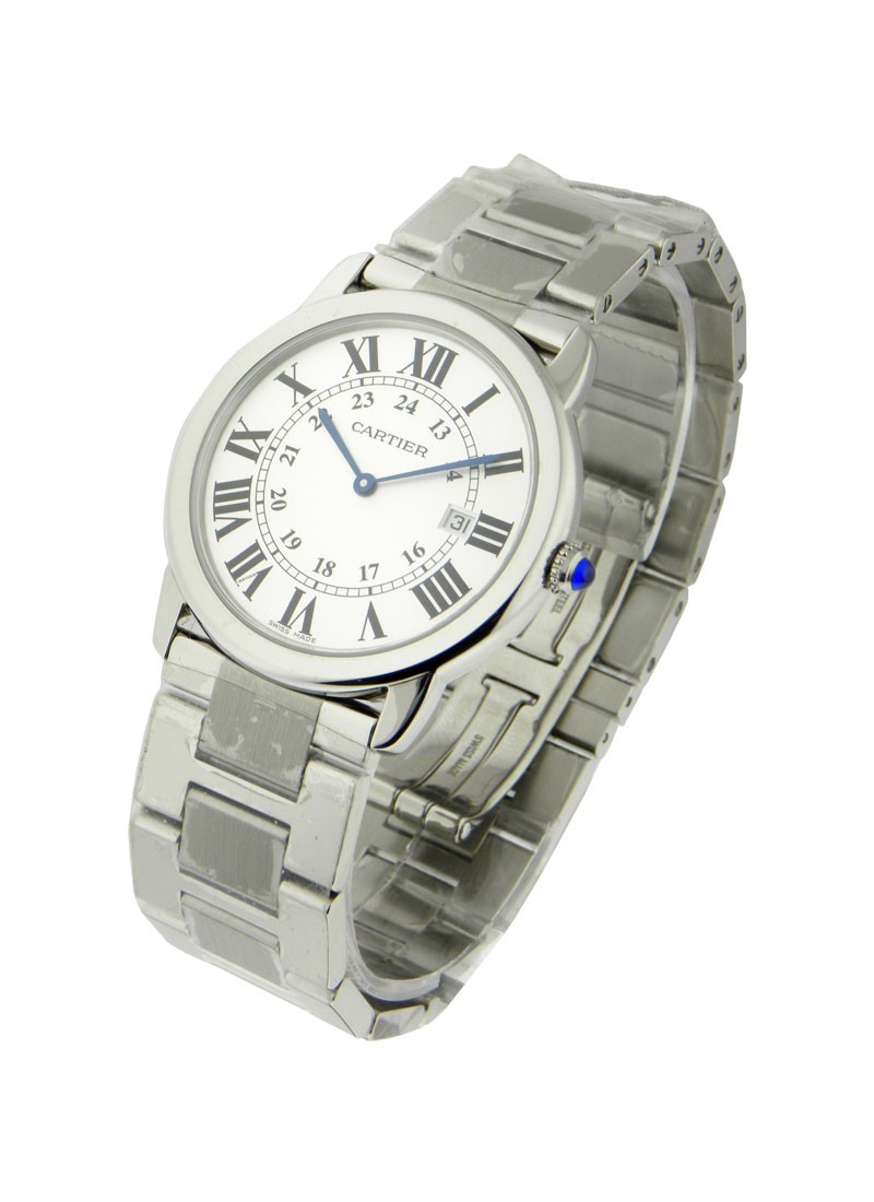 Cartier Ronde Solo  Large Size in Steel