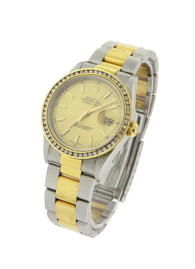 Rolex Used Mens Datejust 2 Tone with Oyster Bracelet
