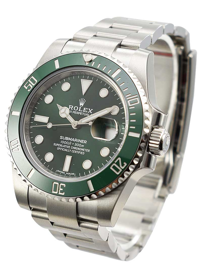Rolex Unworn Submariner in Steel with Green Ceramic Bezel - Hulk