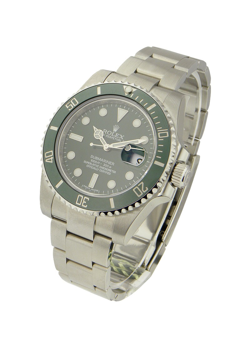 Rolex Unworn Submariner in Steel with Green Ceramic Bezel