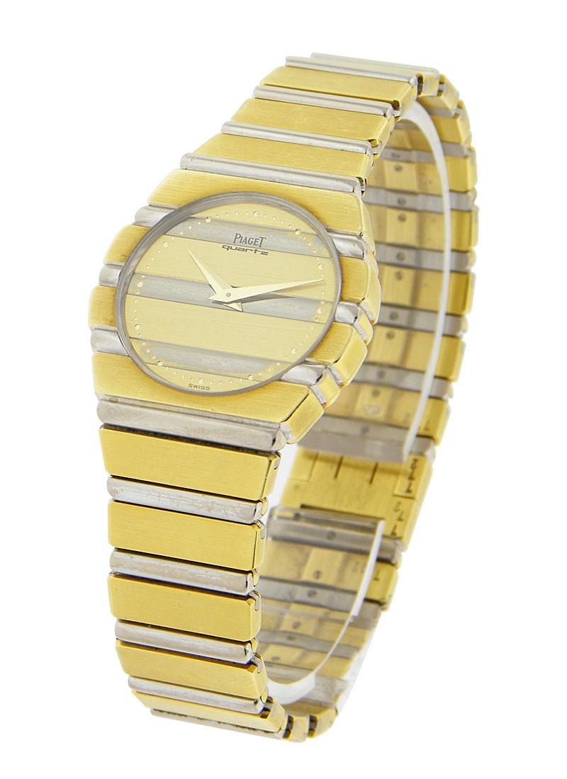 Piaget Lady's Round Polo 2-Tone Whtie Gold and Yellow Gold