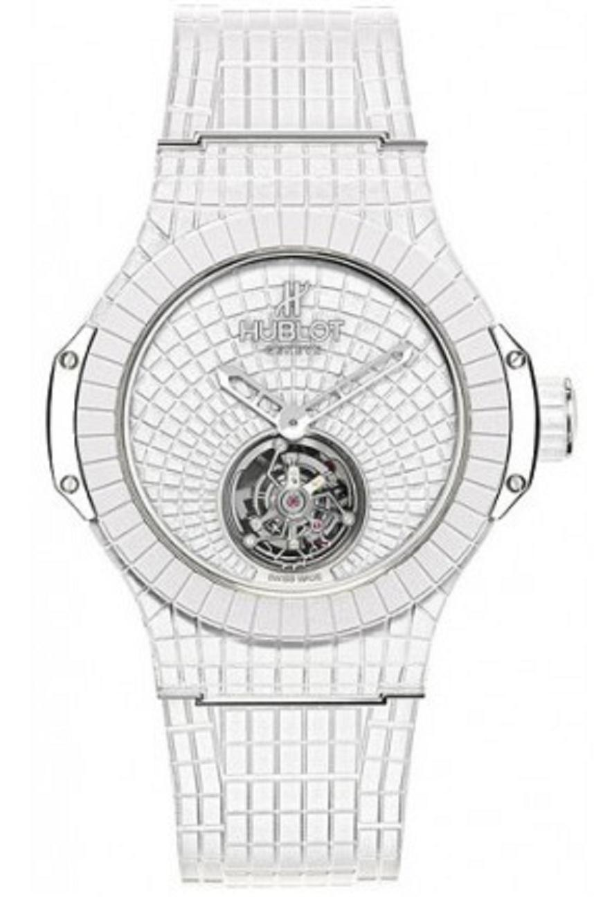 Hublot Big Bang Gummy Bang Tourbillon 44mm in White Rubber