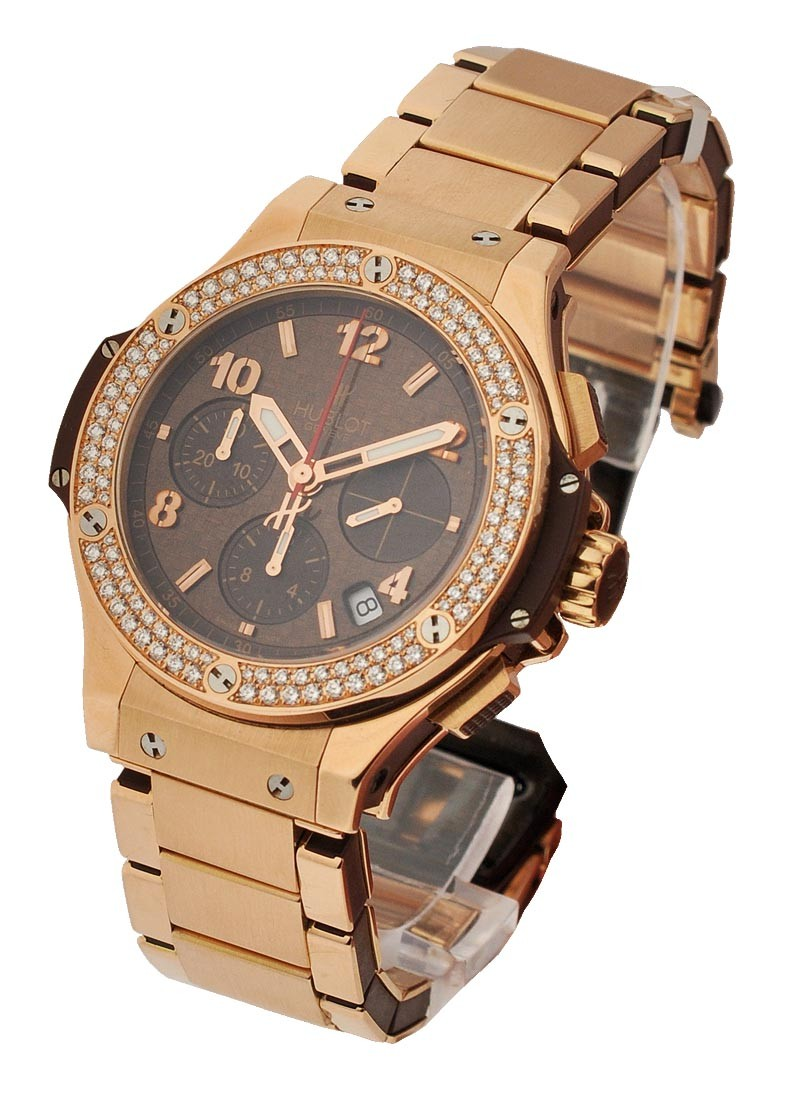 Hublot 41mm Big Bang Chocolate - 2 Row Diamond Bezel