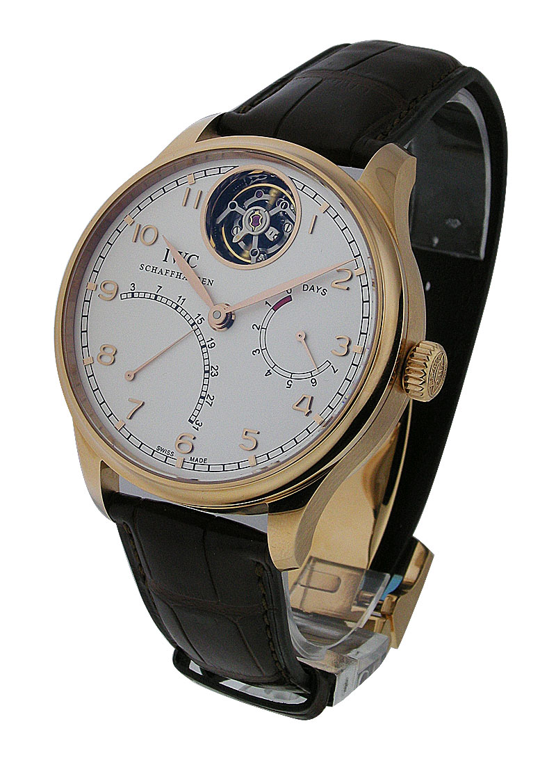 IWC Portuguese Tourbillon Mystere Retrograde in Rose Gold