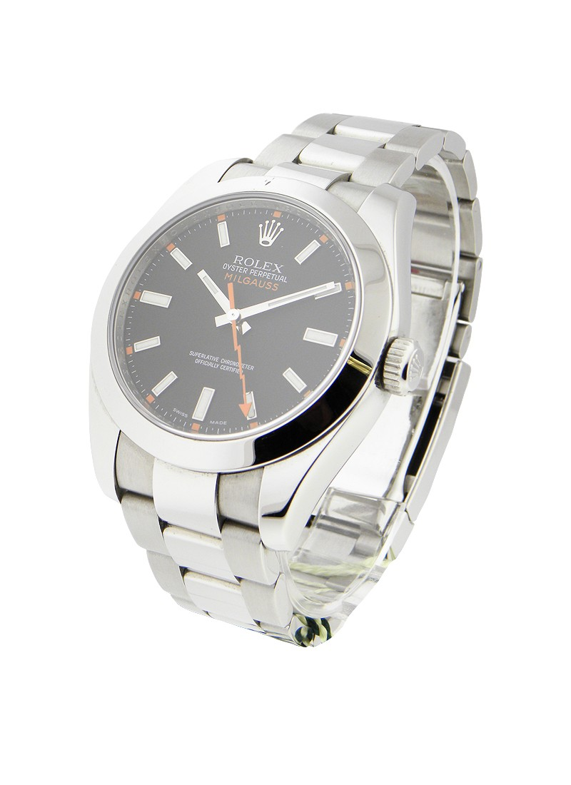 Rolex Used Milgauss 40mm in Steel with Smooth Bezel