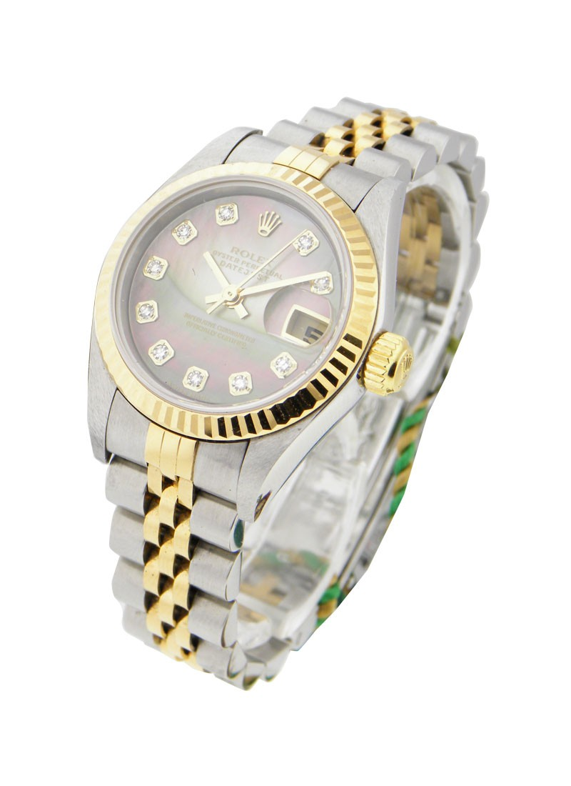 Rolex Used Lady's 2 Tone Datejust in Steel and Yellow Gold Fluted Bezel