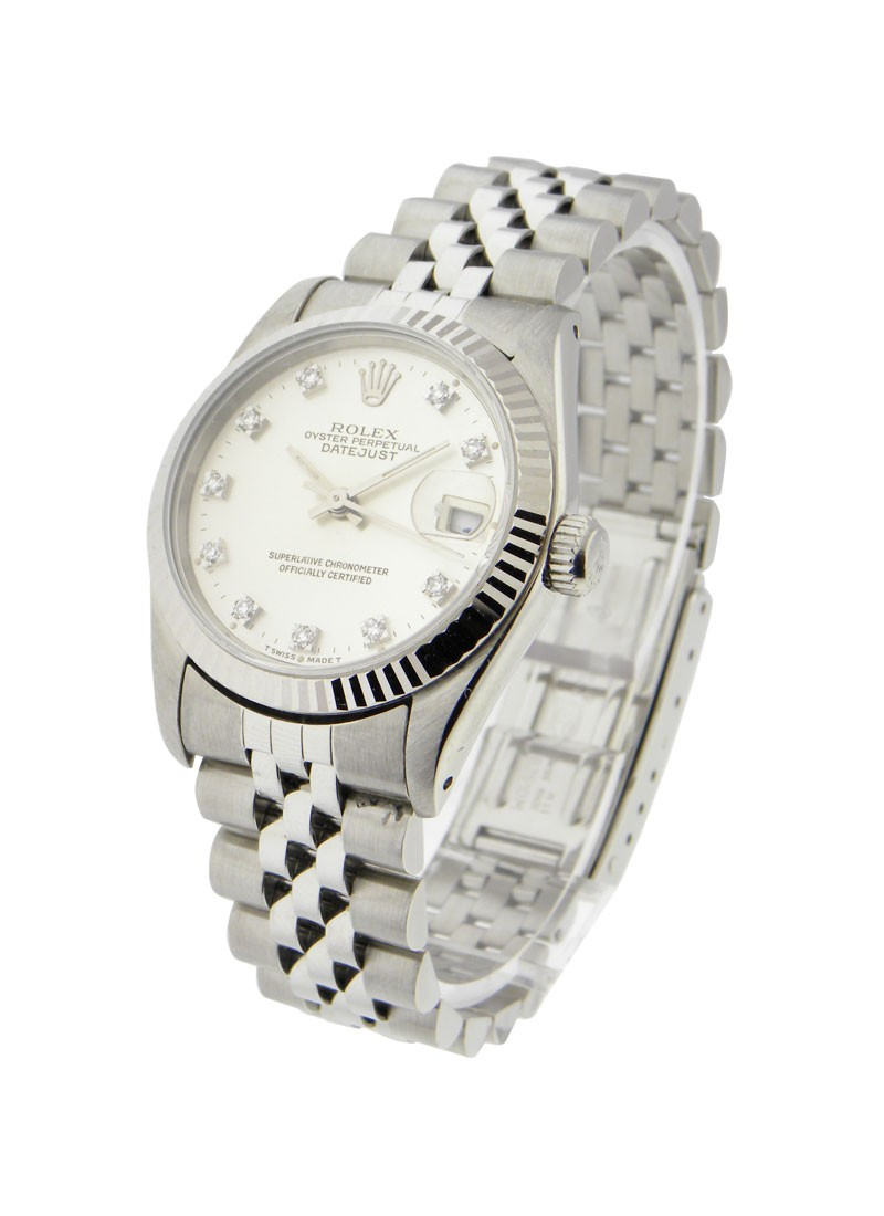 Rolex Used Steel Mid Size Datejust with Jubilee Bracelet
