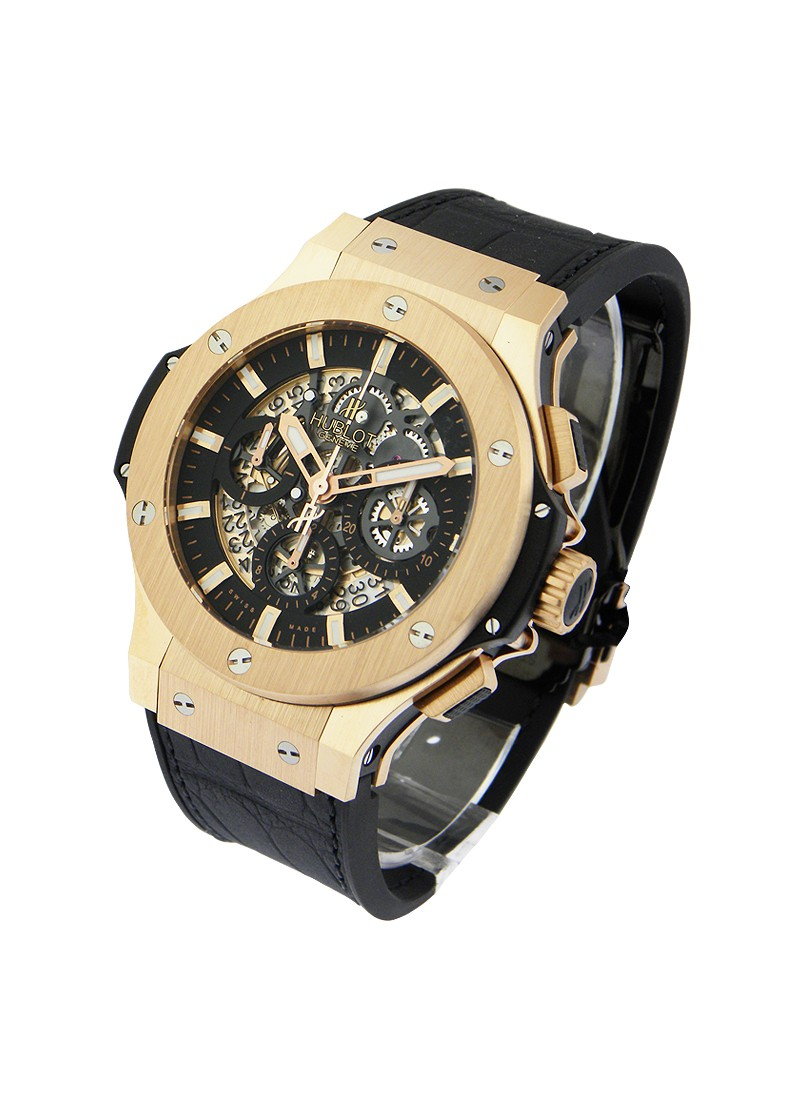 Hublot Aero Bang   Rose Gold  Skeleton Chronograph Big Bang