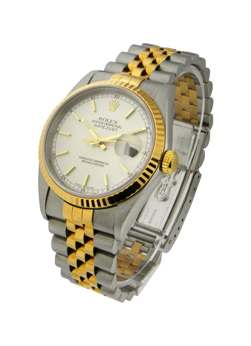 Rolex Used 2-Tone Datejust 36mm with Fluted Bezel