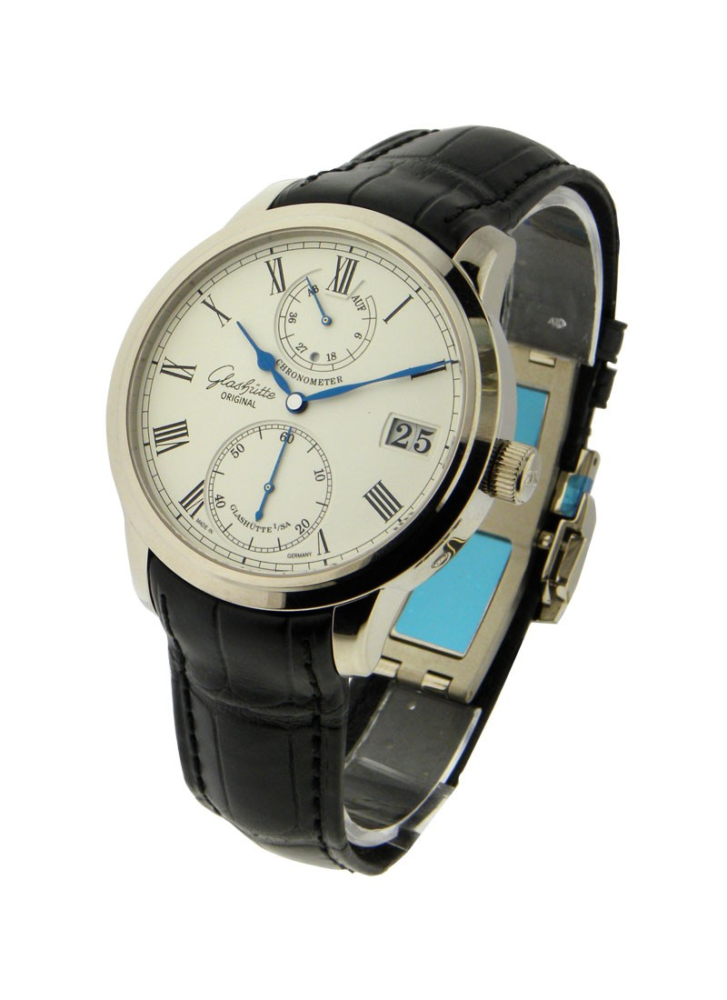 Glashutte Senator Chronometer in White Gold