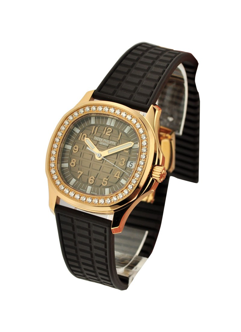 Patek Philippe 5068R - Lady's Aquanaut Luce Rose Gold with Diamond Bezel
