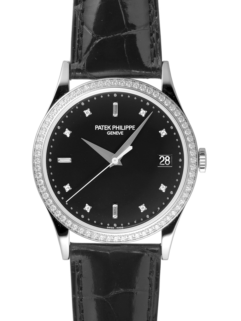 Patek Philippe Calatrava Ref 5297G in White Gold with Diamond Bezel