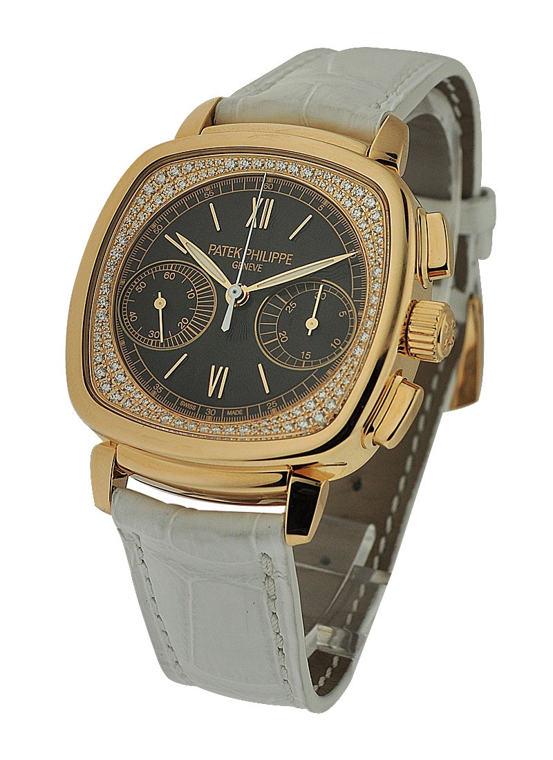 Patek Philippe 7071R Ladys Chronograph with Diamond Flange Dial
