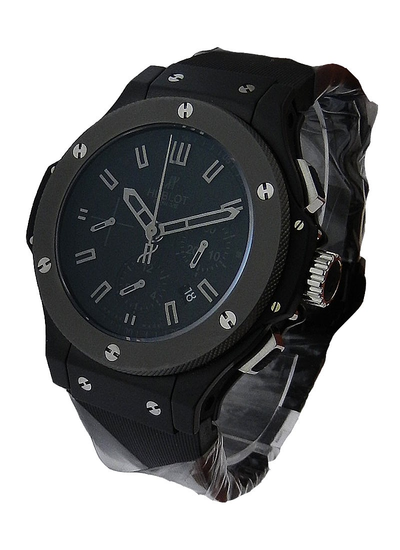 Hublot Big Bang Ice Bang Chronograph in Black Ceramic With Tungsten Bezel
