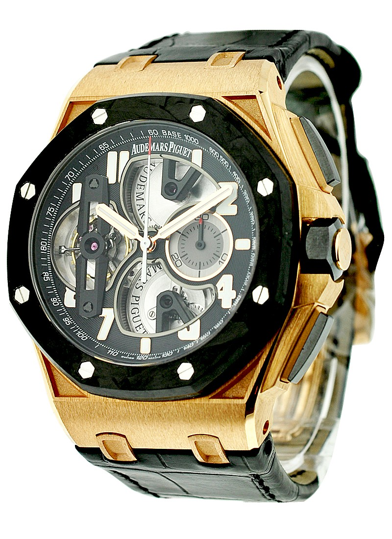 Audemars Piguet Royal Oak Offshore Tourbillon Chronograph in Rose Gold with Carbon Bezel