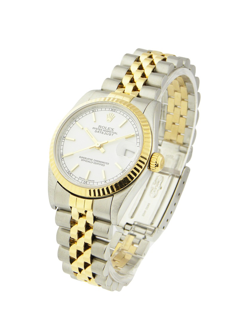 Rolex Used Mid Size - Datejust - Steel with Yellow Gold - Fluted Bezel