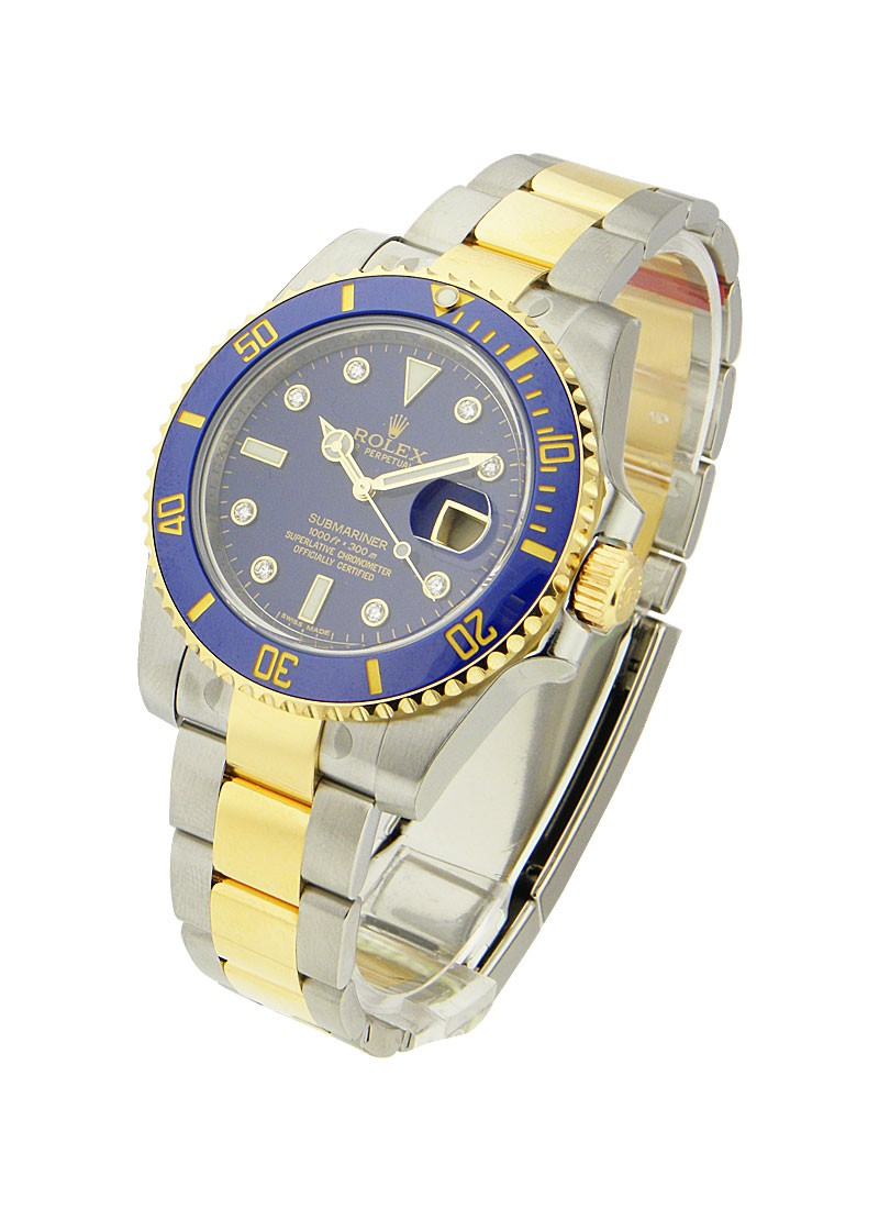 Rolex Unworn Submariner 2 Tone in Steel with Blue Ceramic Bezel