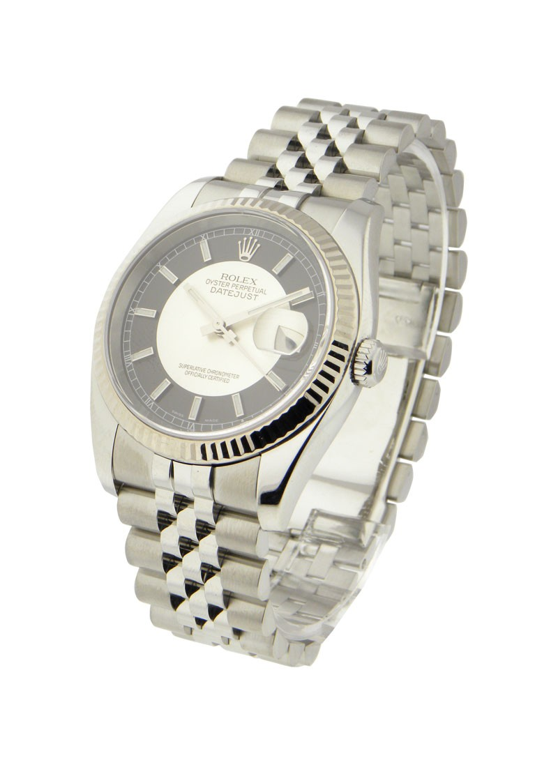 Rolex Used Datejust 36mm with White Gold with Fluted Bezel