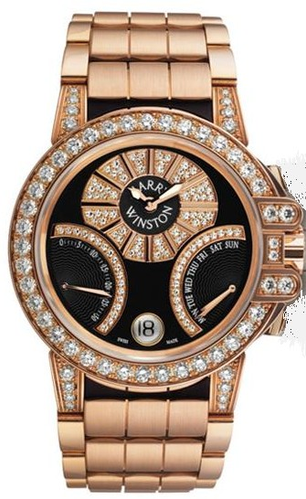 Harry Winston Ocean Biretro 36mm in Rose Gold with Diamond Bezel