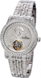 Jaeger - LeCoultre Master Grande Tourbillon in White Gold with Diamonds Bezel