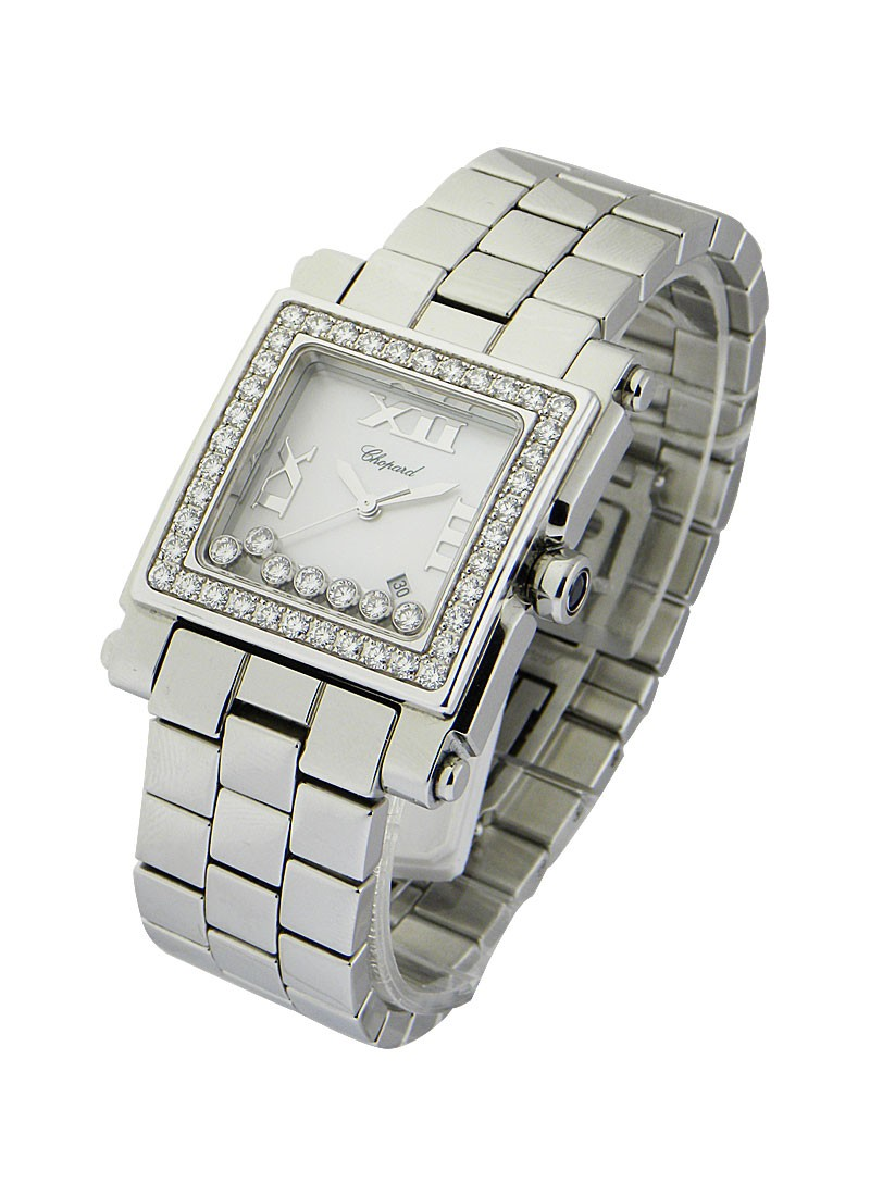 Chopard  Happy Sport Square with Diamond Bezel