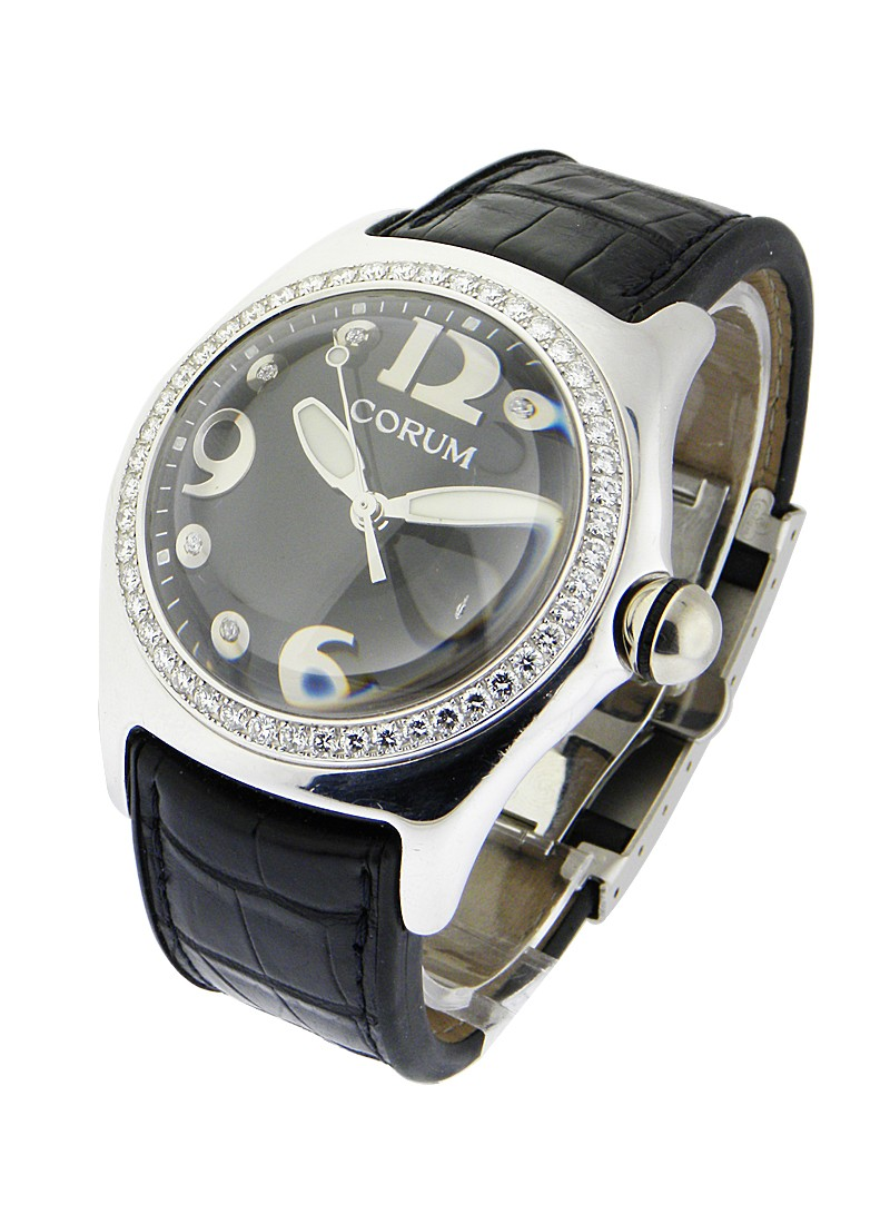 Corum Bubble Automatic in White Gold with Diamond Bezel