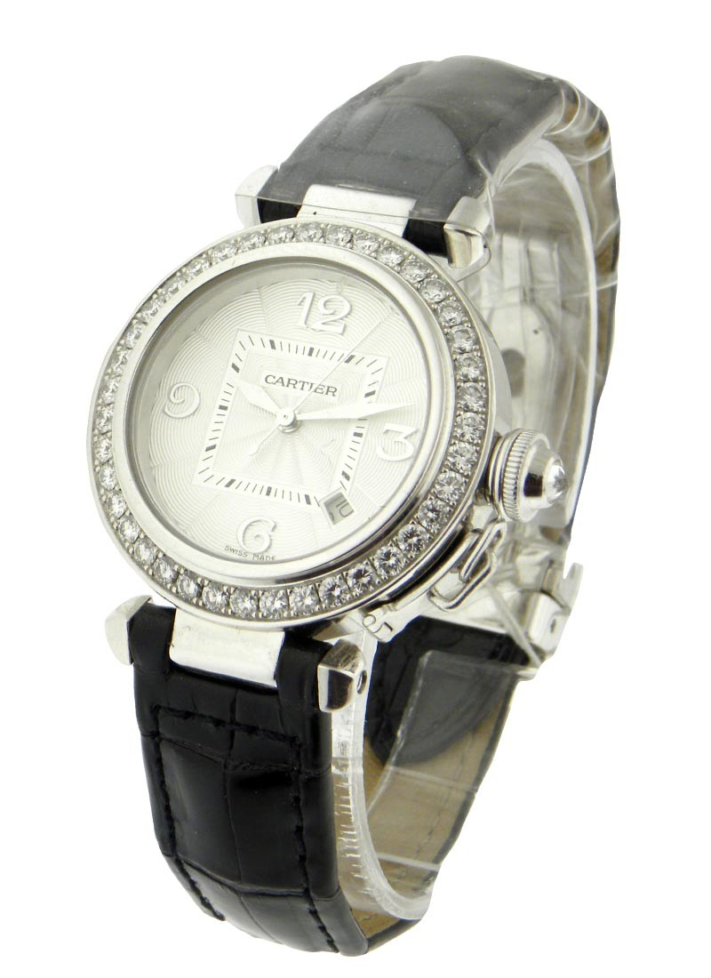 Cartier Pasha 32mm with Factory Diamond Bezel