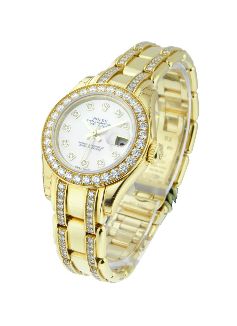 Rolex Unworn Masterpiece Lady's in Yellow Gold with 32 Diamond Bezel