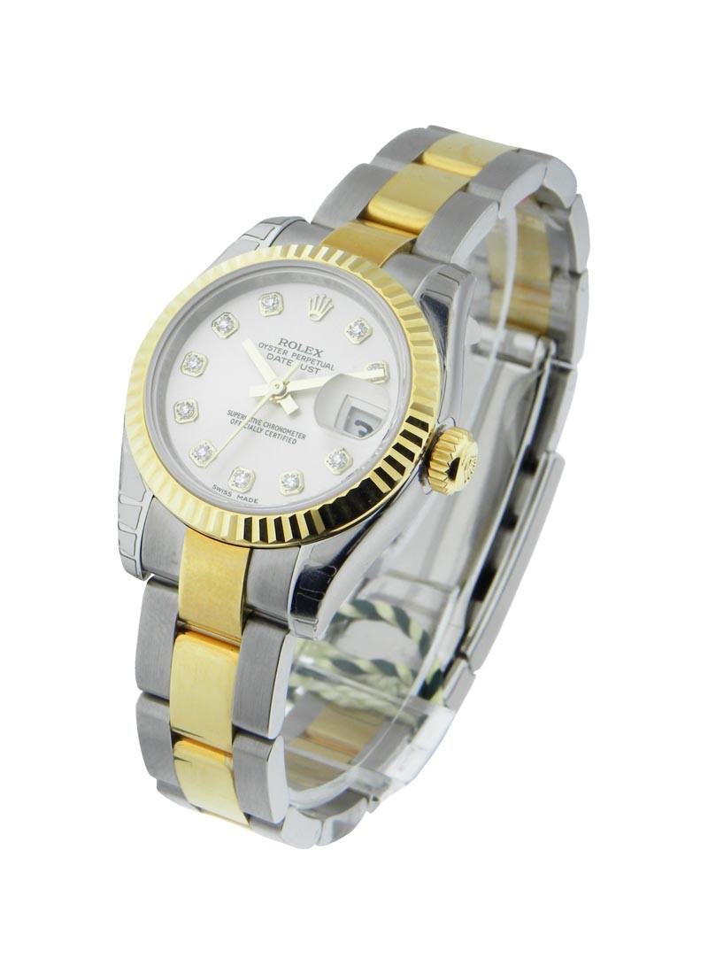Rolex Unworn Datejust in Steel with Yellow Gold Fluted Bezel