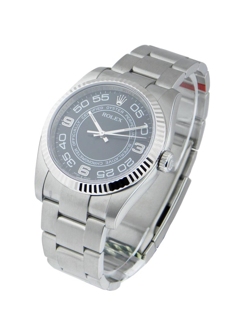 Rolex Unworn Oyster Perpetual 36mm Automatic in Steel with Fluted Bezel