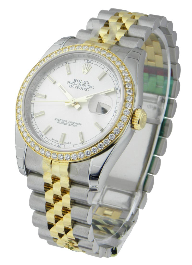 Rolex Unworn Men''s 2 Tone Datejust with Diamond Bezel